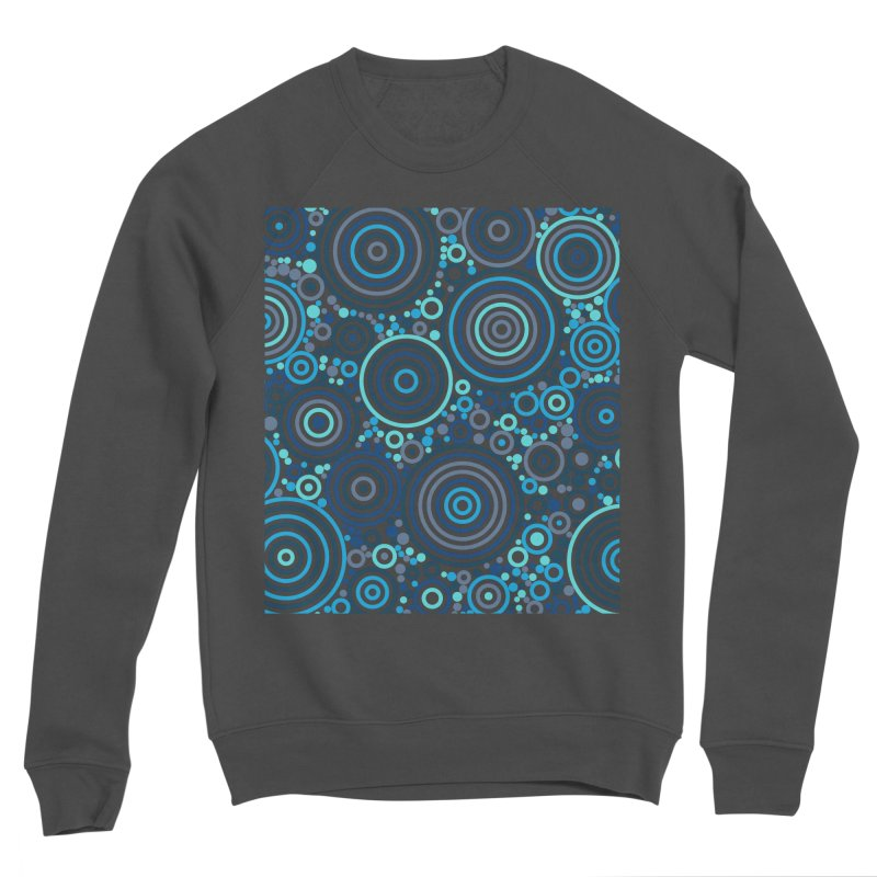Concentric concentrate (blues) Women's Sponge Fleece Sweatshirt by Robot Molecule