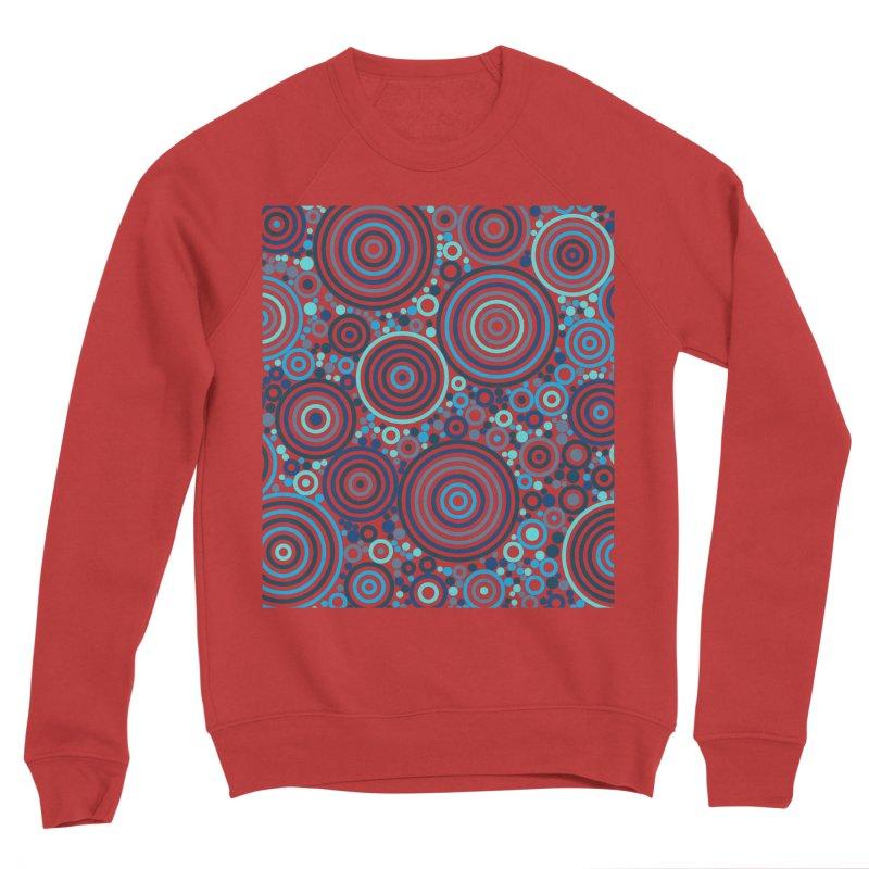 Concentric concentrate (blues) Men's Sponge Fleece Sweatshirt by Robot Molecule