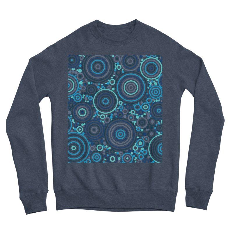 Concentric concentrate (blues) Women's Sponge Fleece Sweatshirt by Robot Molecule