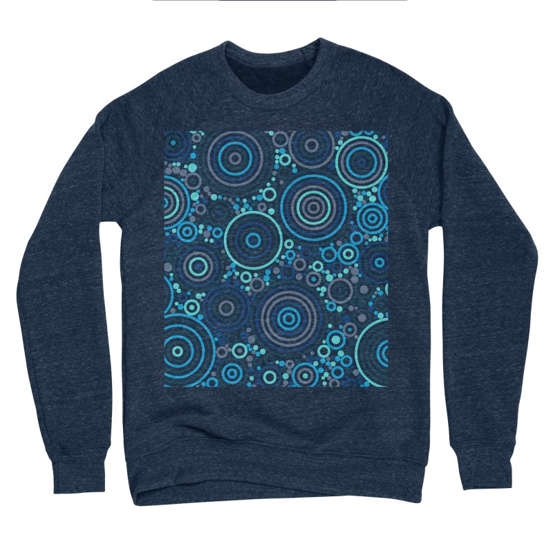 Concentric concentrate (blues) Men's Sponge Fleece Sweatshirt by Robot Molecule
