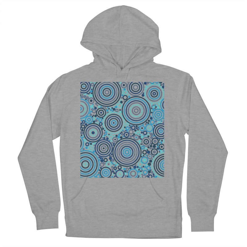 Concentric concentrate (blues) Women's Pullover Hoody by Robot Molecule