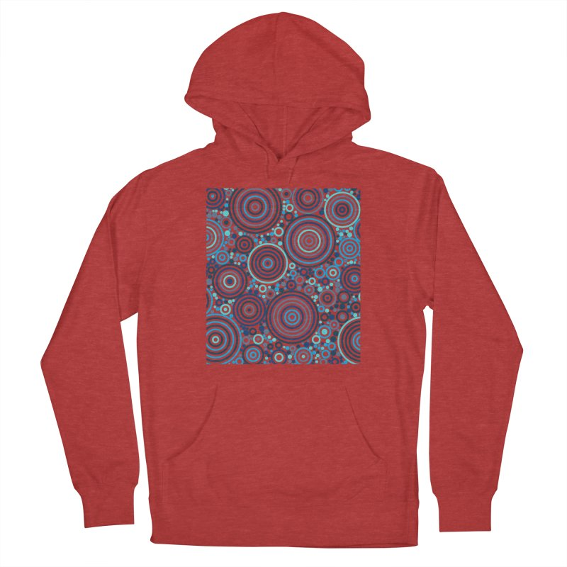 Concentric concentrate (blues) Women's French Terry Pullover Hoody by Robot Molecule