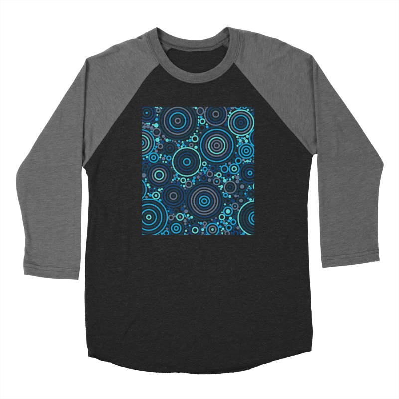 Concentric concentrate (blues) Women's Longsleeve T-Shirt by Robot Molecule