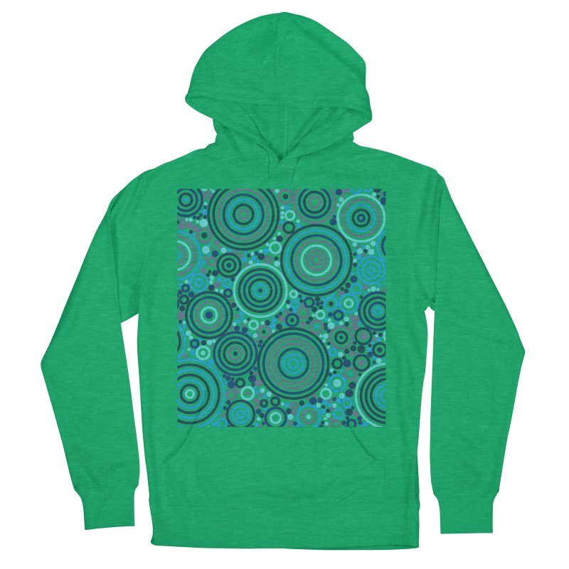 Concentric concentrate (blues) Men's French Terry Pullover Hoody by Robot Molecule