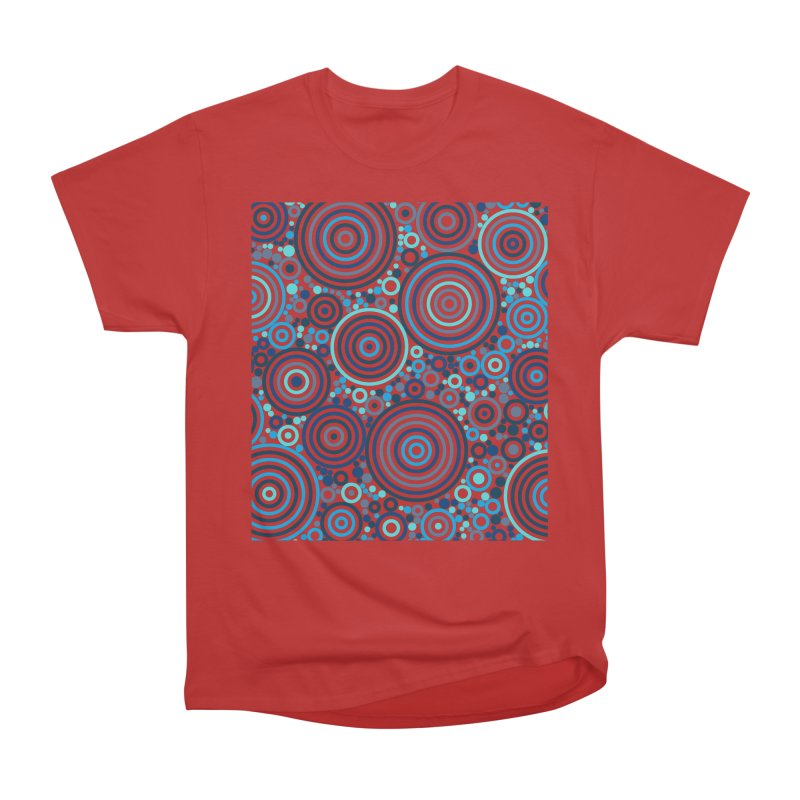 Concentric concentrate (blues) Women's Heavyweight Unisex T-Shirt by Robot Molecule