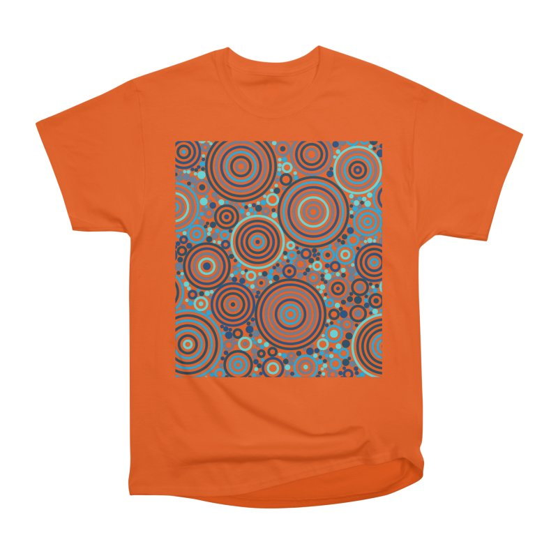 Concentric concentrate (blues) Women's T-Shirt by Robot Molecule