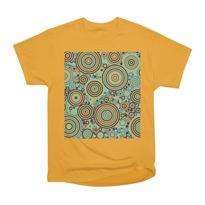 Concentric concentrate (blues) Men's Heavyweight T-Shirt by Robot Molecule