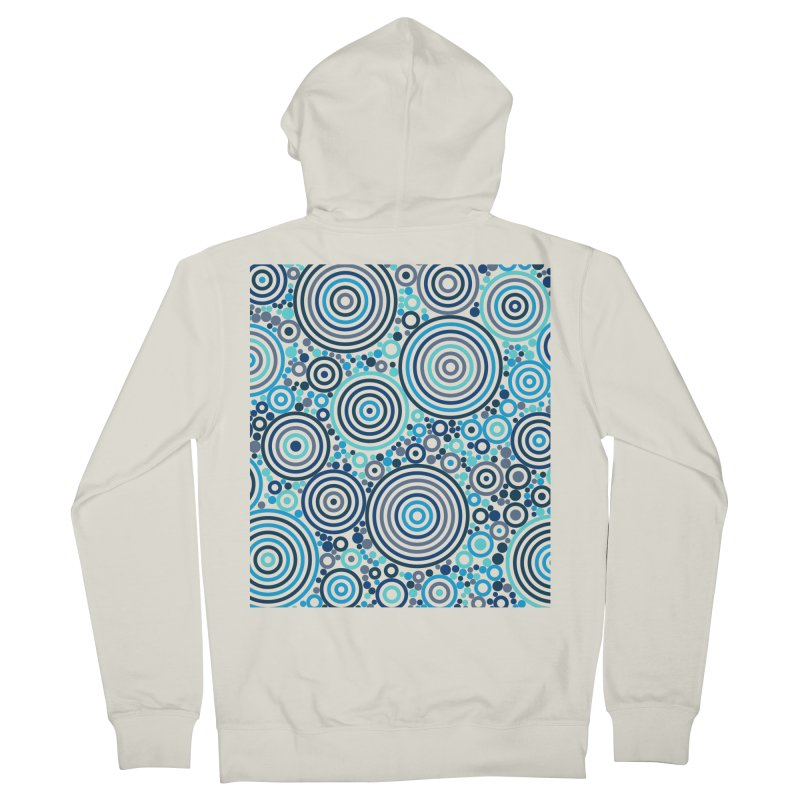 Concentric concentrate (blues) Women's French Terry Zip-Up Hoody by Robot Molecule
