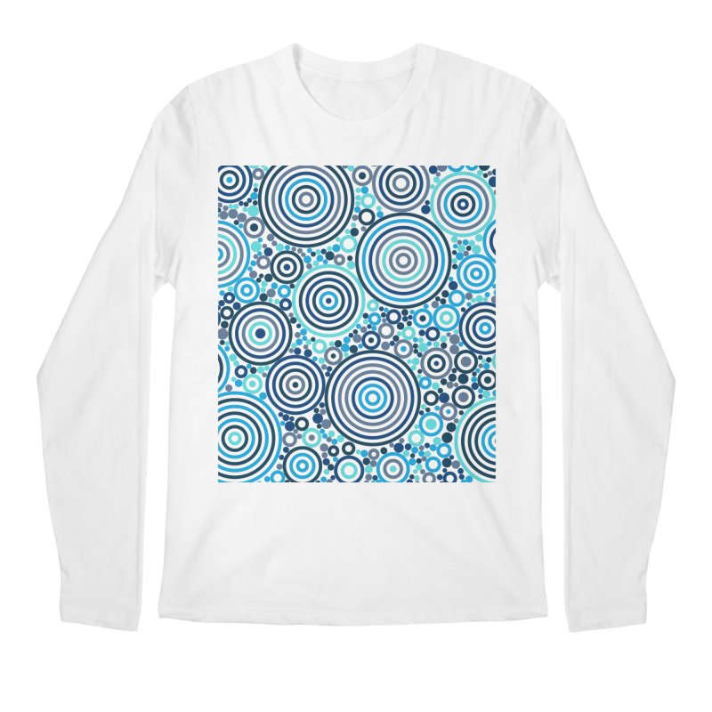 Concentric concentrate (blues) Men's Regular Longsleeve T-Shirt by Robot Molecule