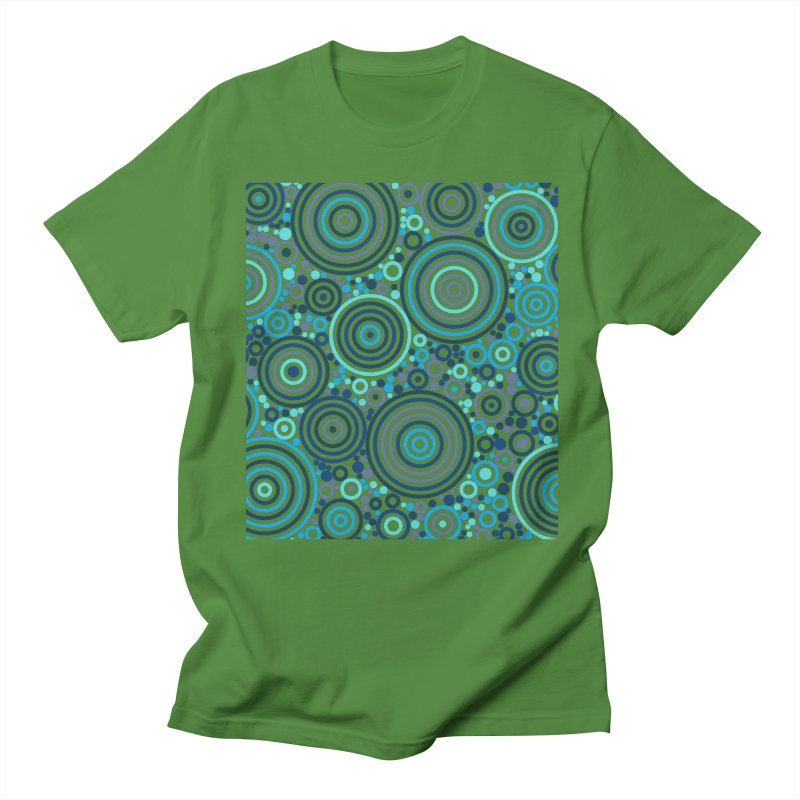 Concentric concentrate (blues) Women's Regular Unisex T-Shirt by Robot Molecule