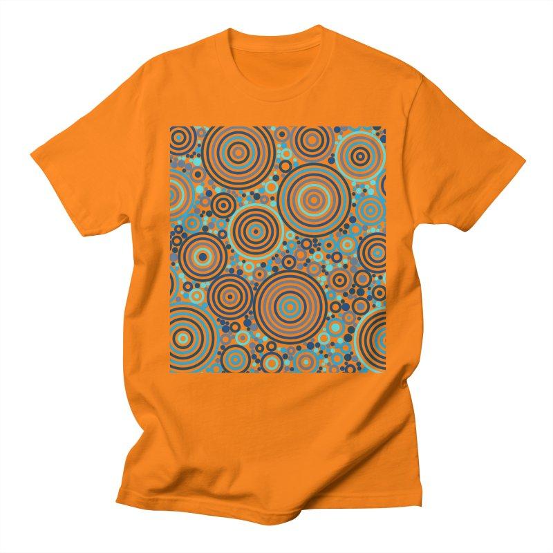 Concentric concentrate (blues) Men's Regular T-Shirt by Robot Molecule