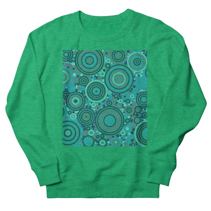 Concentric concentrate (blues) Women's Sweatshirt by Robot Molecule