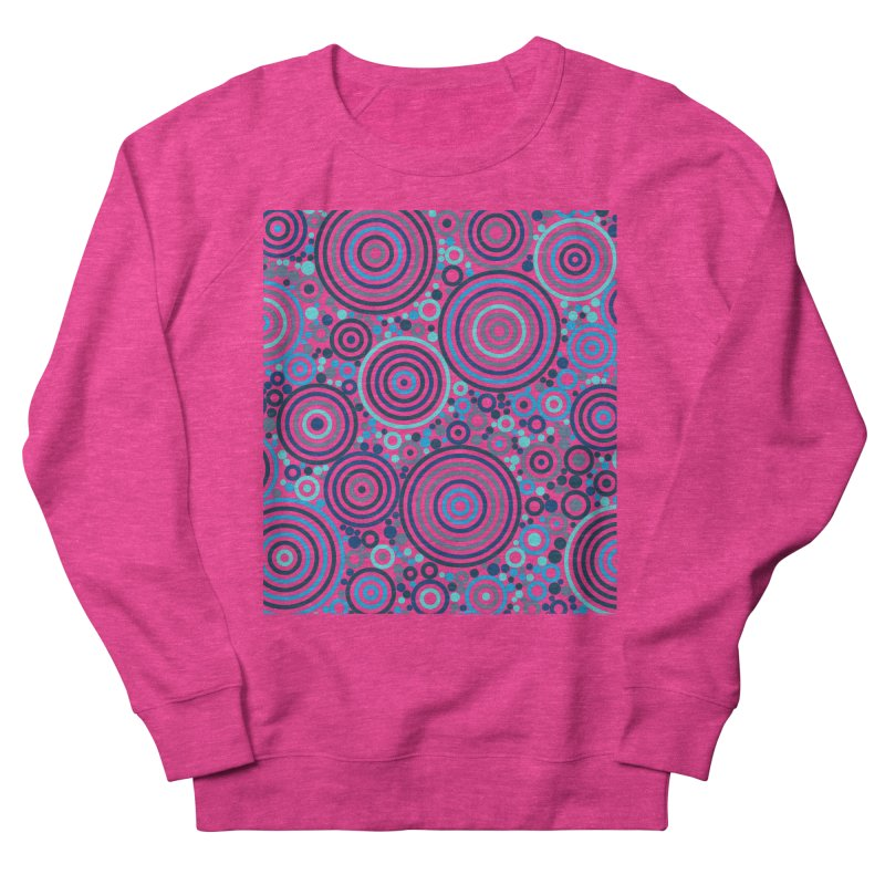 Concentric concentrate (blues) Women's French Terry Sweatshirt by Robot Molecule
