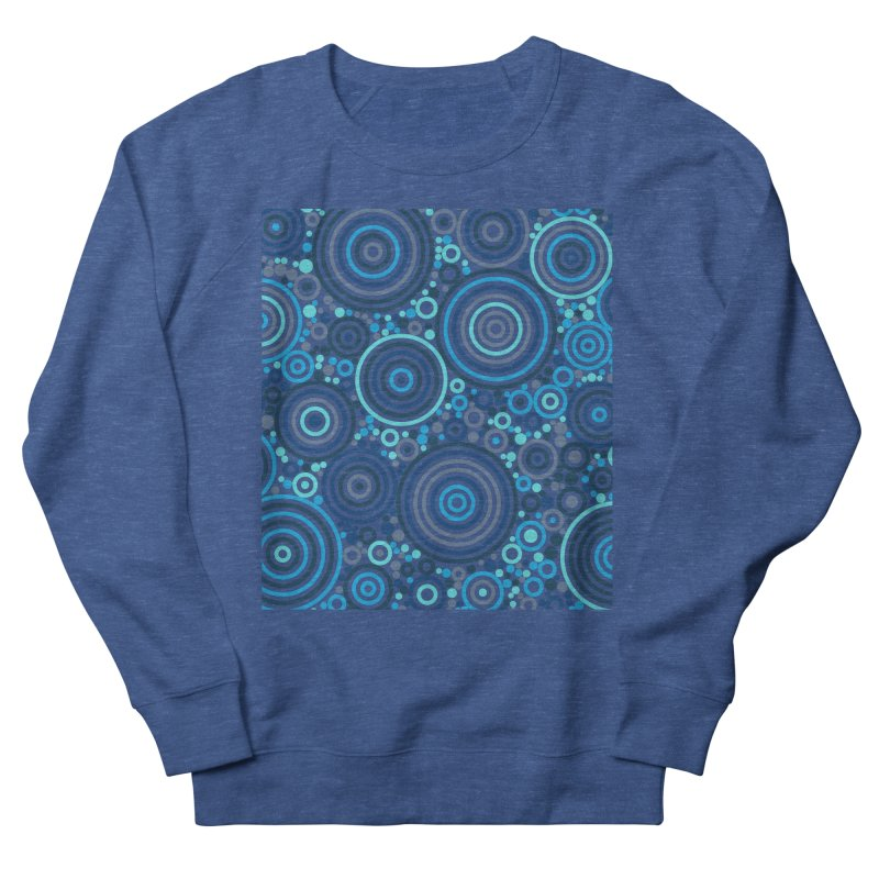 Concentric concentrate (blues) Men's Sweatshirt by Robot Molecule