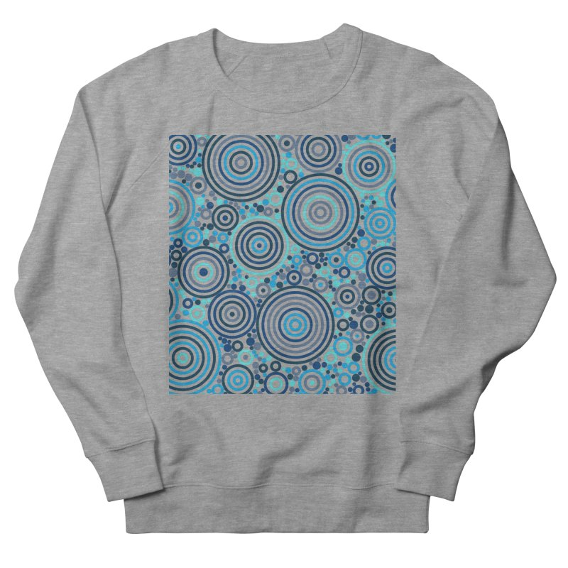 Concentric concentrate (blues) Men's French Terry Sweatshirt by Robot Molecule