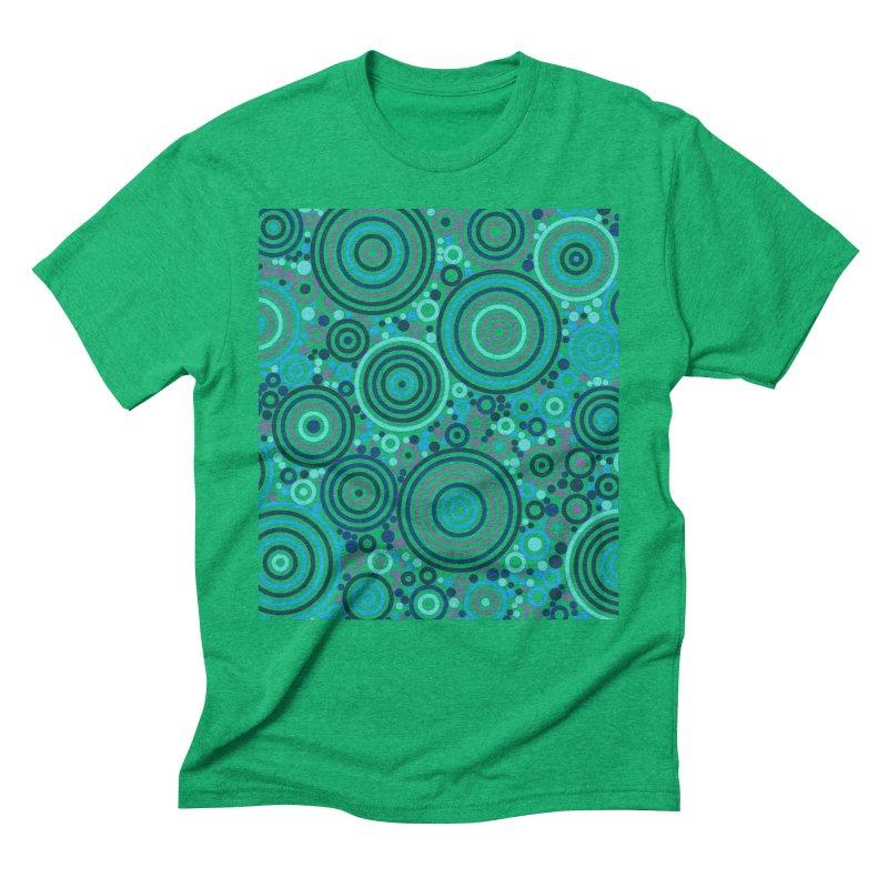 Concentric concentrate (blues) Men's Triblend T-Shirt by Robot Molecule