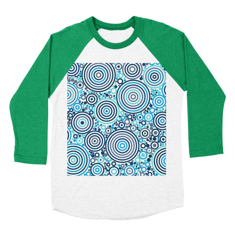 Concentric concentrate (blues) Women's Baseball Triblend Longsleeve T-Shirt by Robot Molecule