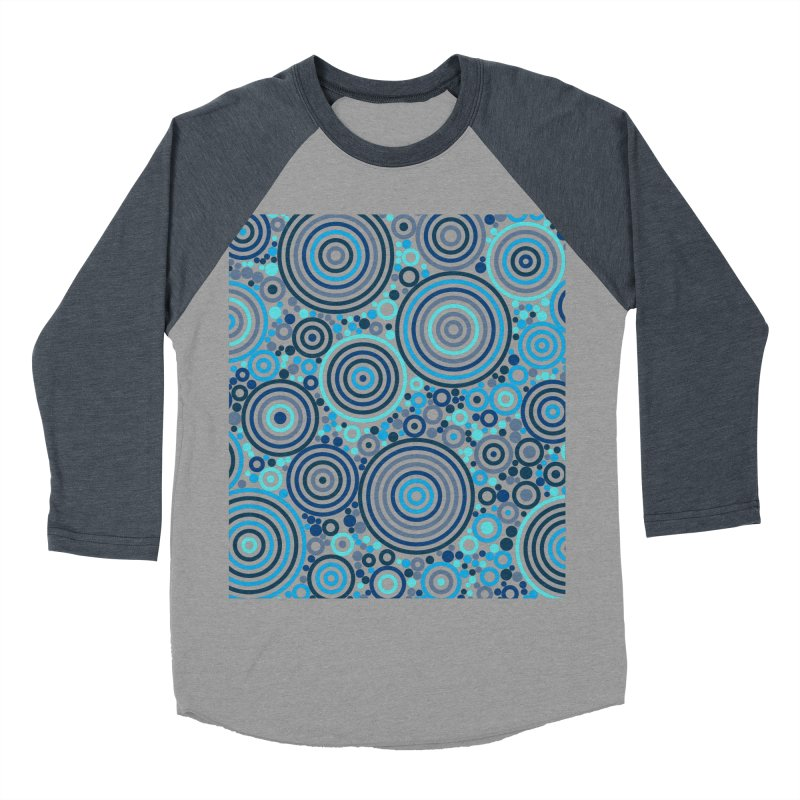 Concentric concentrate (blues) Men's Baseball Triblend Longsleeve T-Shirt by Robot Molecule
