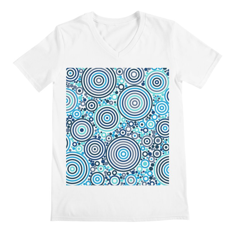 Concentric concentrate (blues) Men's V-Neck by Robot Molecule