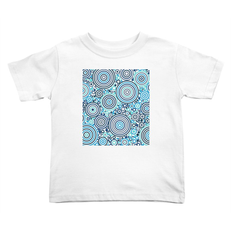 Concentric concentrate (blues) Kids Toddler T-Shirt by Robot Molecule