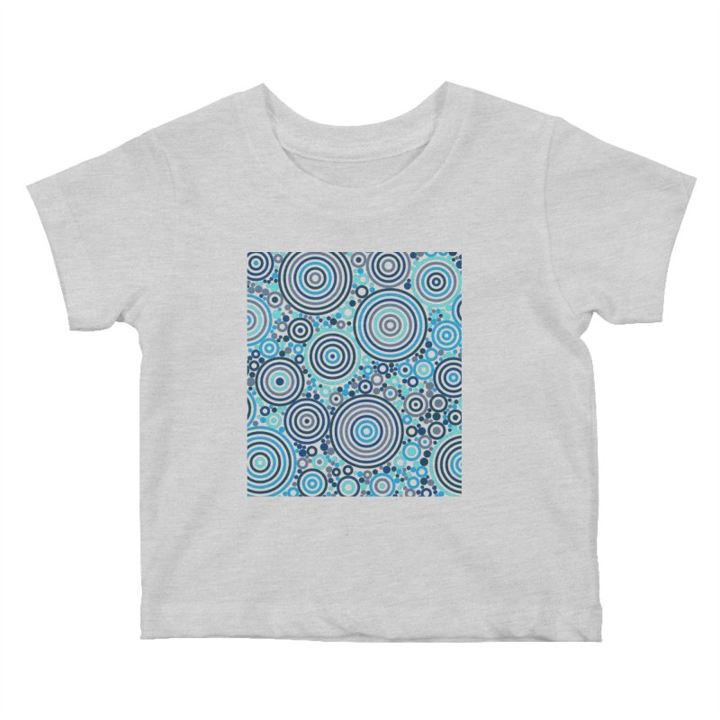 Concentric concentrate (blues) Kids Baby T-Shirt by Robot Molecule