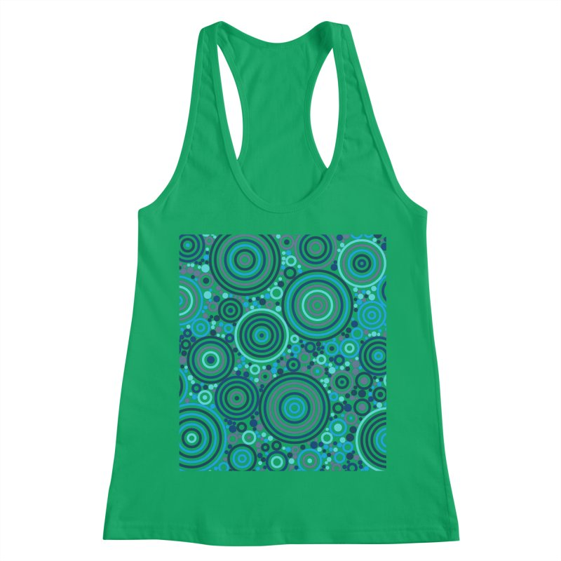 Concentric concentrate (blues) Women's Tank by Robot Molecule