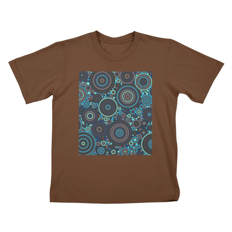 Concentric concentrate (blues) Kids T-Shirt by Robot Molecule