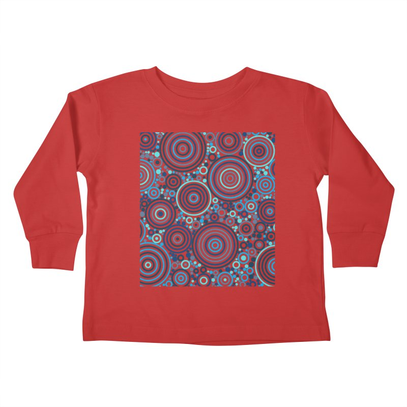 Concentric concentrate (blues) Kids Toddler Longsleeve T-Shirt by Robot Molecule