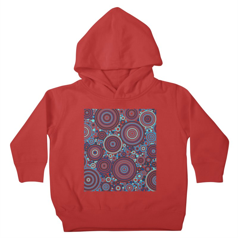 Concentric concentrate (blues) Kids Toddler Pullover Hoody by Robot Molecule
