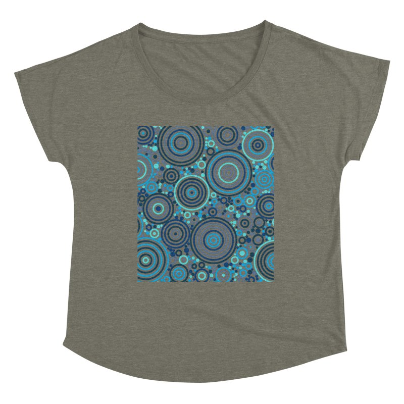 Concentric concentrate (blues) Women's Scoop Neck by Robot Molecule
