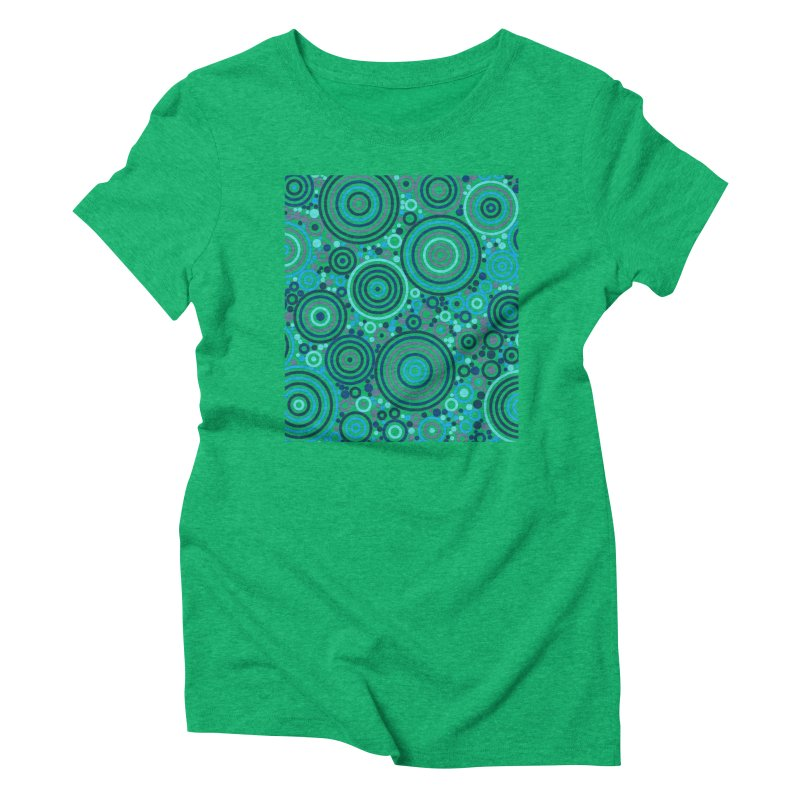 Concentric concentrate (blues) Women's Triblend T-Shirt by Robot Molecule