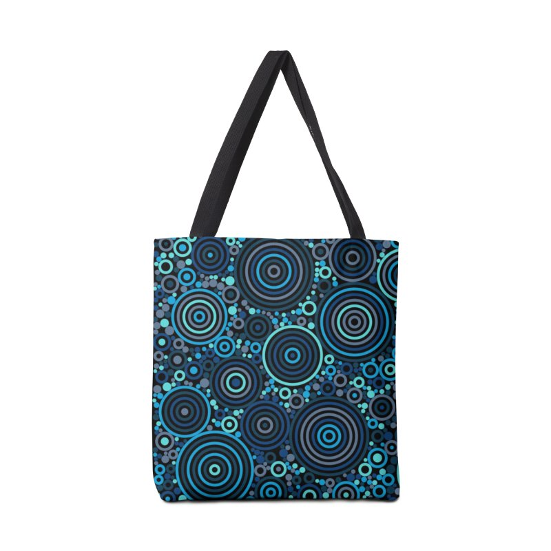 Concentric concentrate (blues) Accessories Tote Bag Bag by Robot Molecule