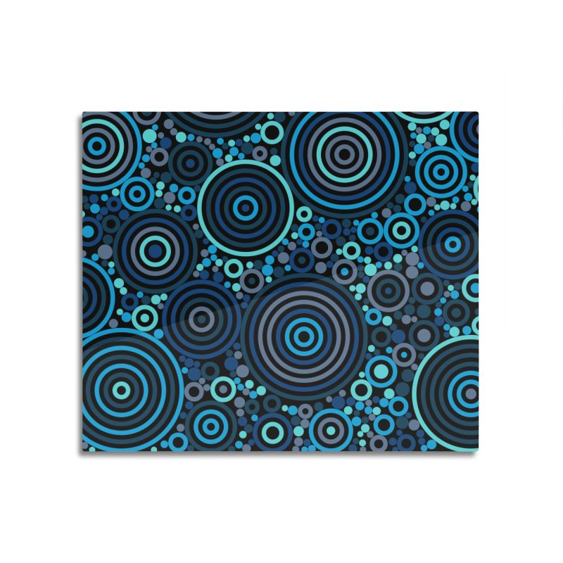 Concentric concentrate (blues) Home Mounted Acrylic Print by Robot Molecule