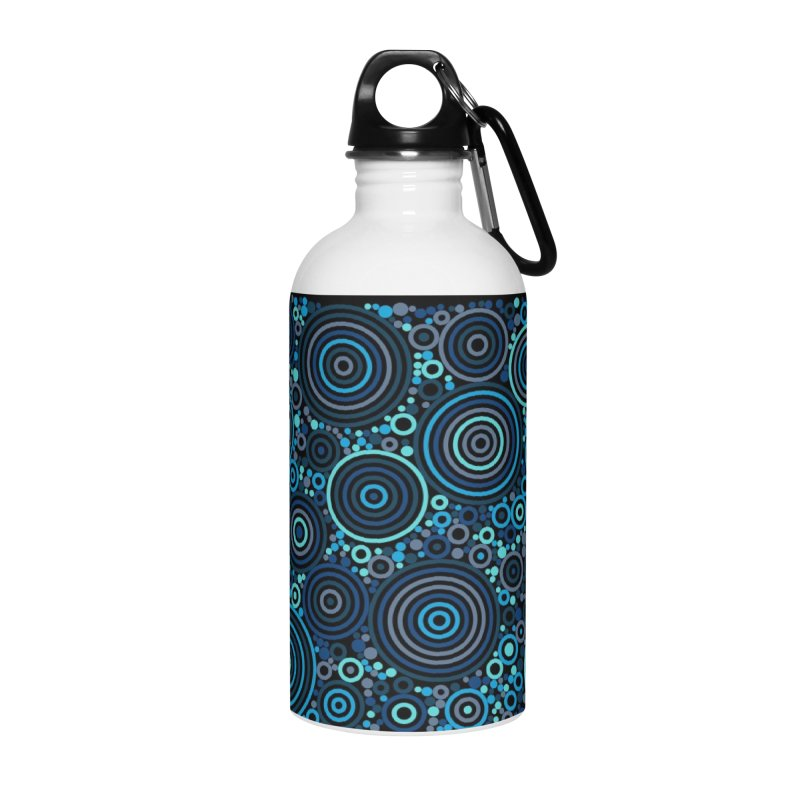 Concentric concentrate (blues) Accessories Water Bottle by Robot Molecule