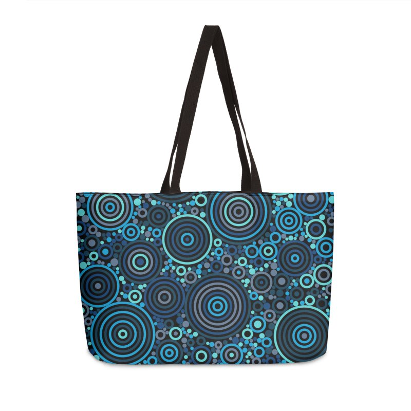 Concentric concentrate (blues) Accessories Bag by Robot Molecule