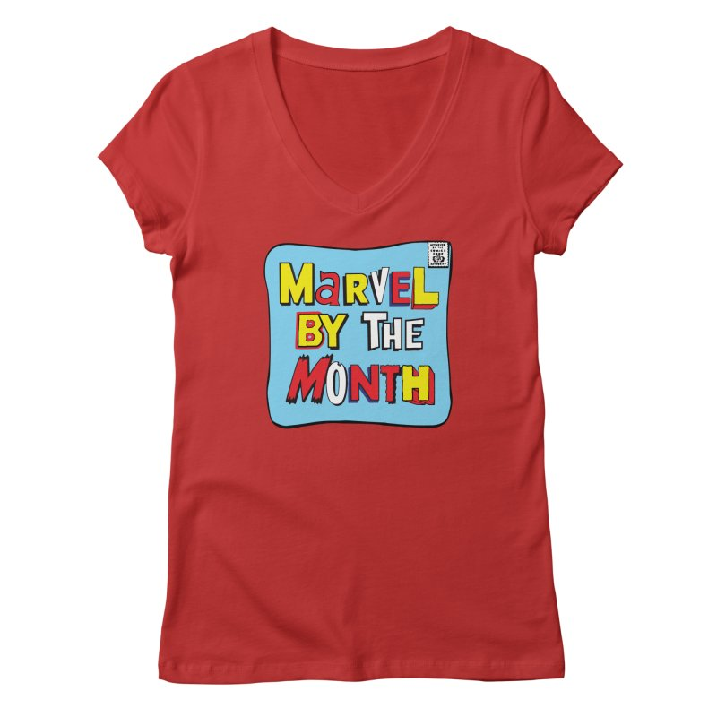 Marvel by the Month in Women's Regular V-Neck Red by The ROBOTORO Shop