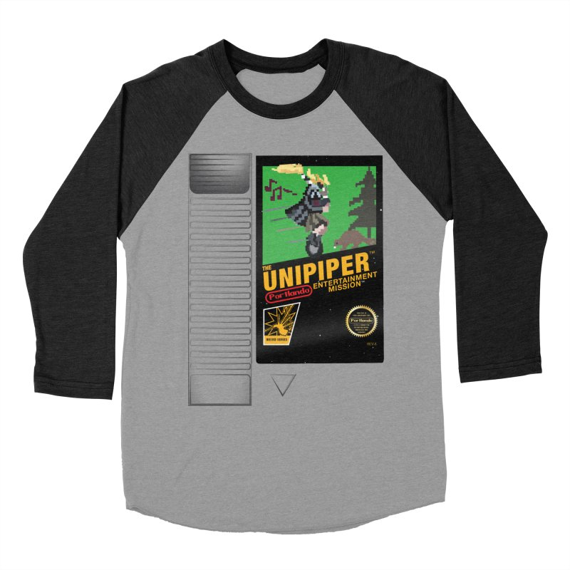 The Unipiper Game Cartridge in Men's Baseball Triblend Longsleeve T-Shirt Heather Onyx Sleeves by The ROBOTORO Shop