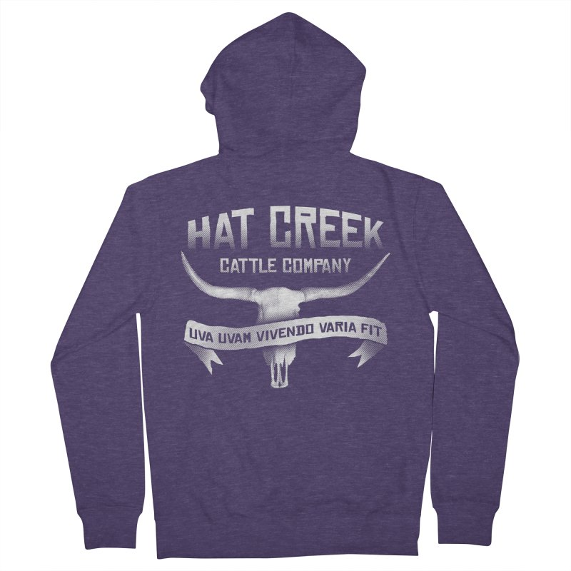 Hat Creek Cattle Company Men's Zip-Up Hoody by robotrobotrobot's Artist Shop