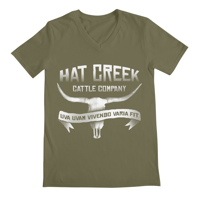 Hat Creek Cattle Company Men's V-Neck by robotrobotrobot's Artist Shop