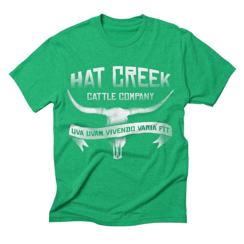 Hat Creek Cattle Company Men's Triblend T-shirt by robotrobotrobot's Artist Shop