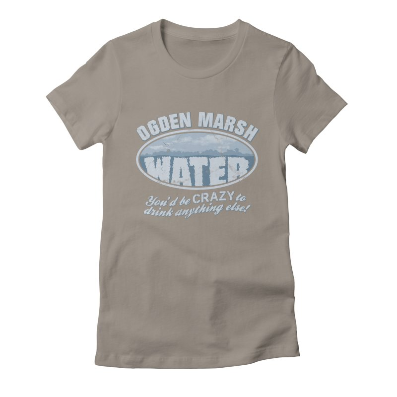 Ogden Marsh Water Women's Fitted T-Shirt by robotrobotrobot's Artist Shop