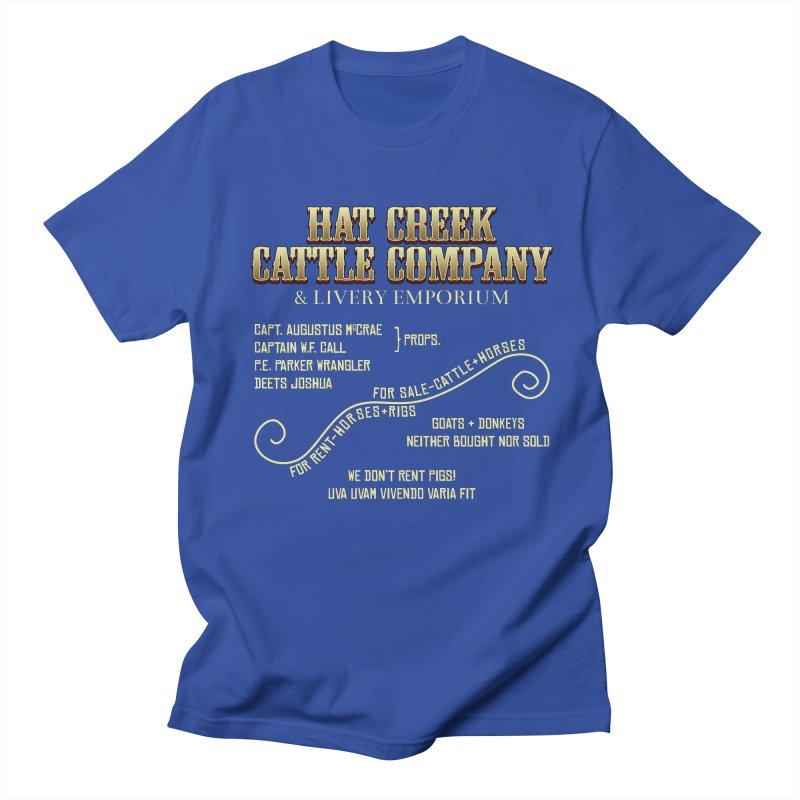 Hat Creek Cattle Company Sign Men's T-Shirt by robotrobotrobot's Artist Shop