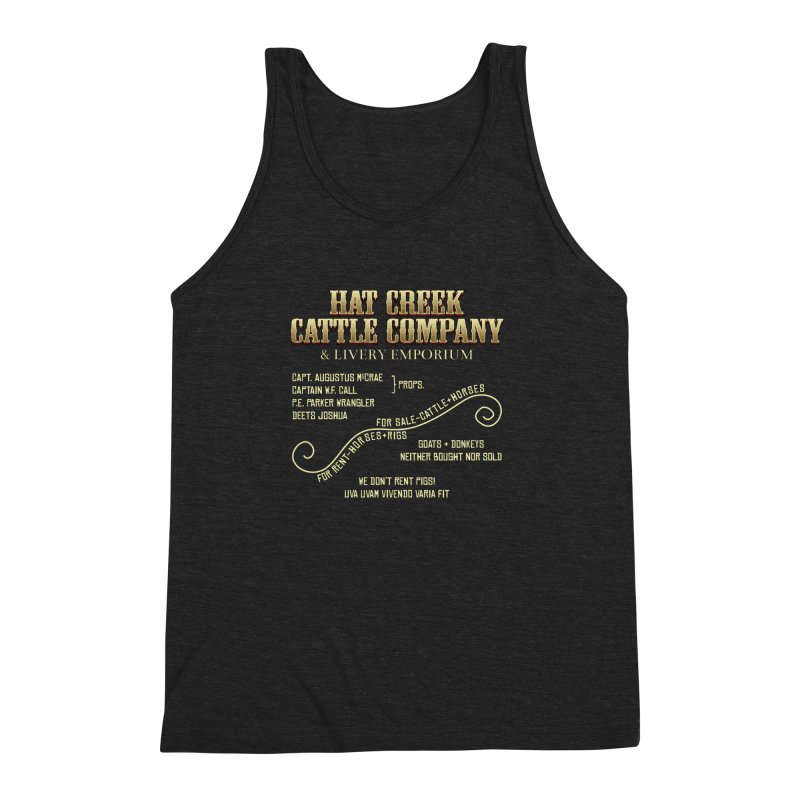 Hat Creek Cattle Company Sign Men's Triblend Tank by robotrobotrobot's Artist Shop