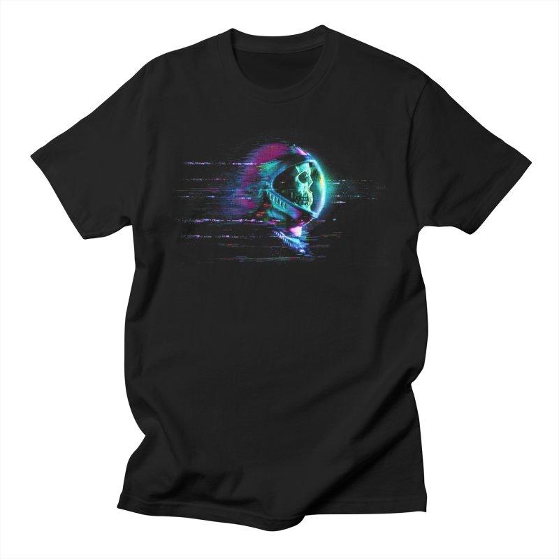 Glitch Skull Astronaut Men's T-Shirt by Glitch Goods by Rob Sheridan