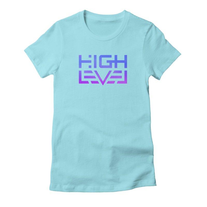 High Level Logo (VaporWave) Women's T-Shirt by Glitch Goods by Rob Sheridan