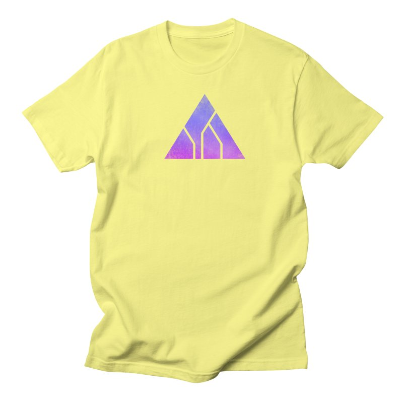High Level - Thirteen Triangle (Purple Distressed) Men's T-Shirt by Glitch Goods by Rob Sheridan