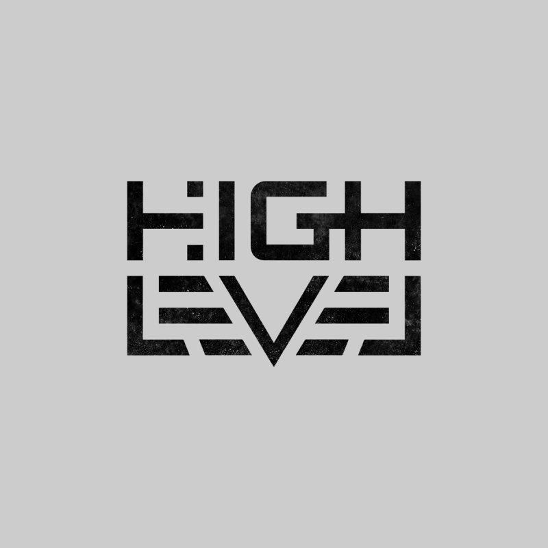 High Level Logo (Black Distressed) by Glitch Goods by Rob Sheridan