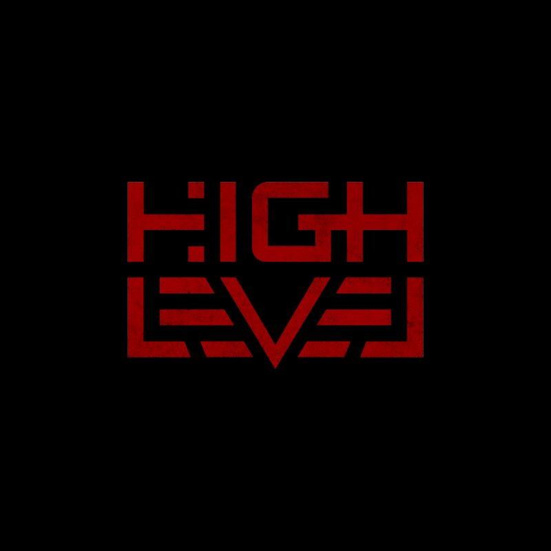 High Level Logo (Crimson Distressed) Men's T-Shirt by Glitch Goods by Rob Sheridan
