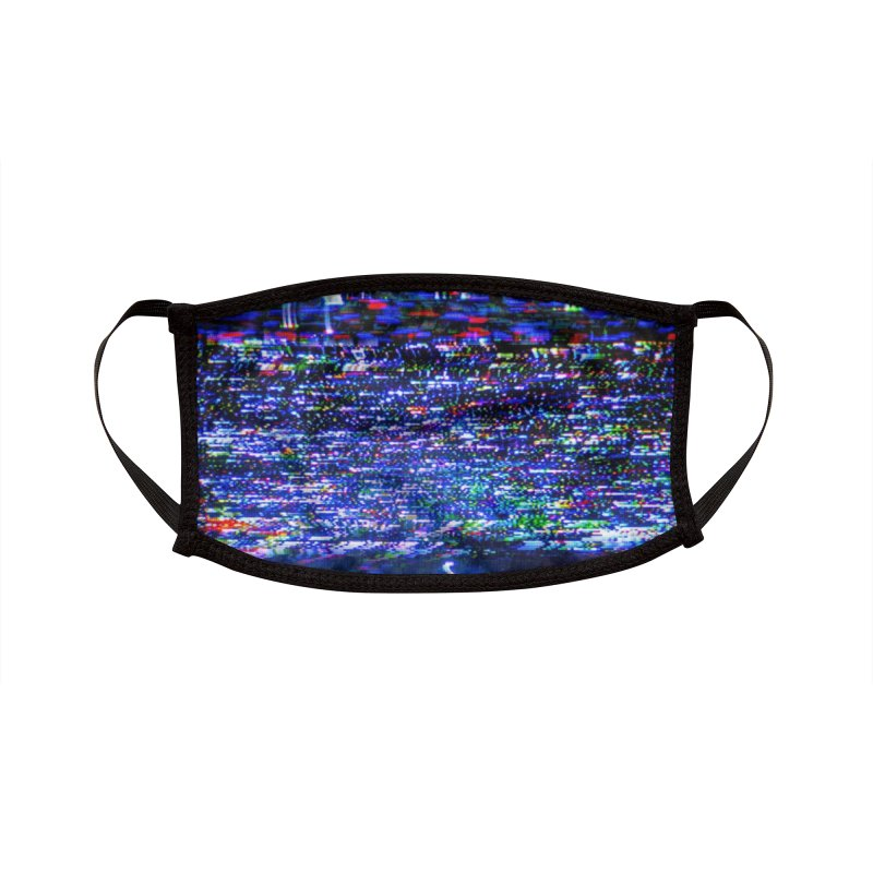VHS Glitch 002: Electrostatic Deflection Accessories Face Mask by Glitch Goods by Rob Sheridan
