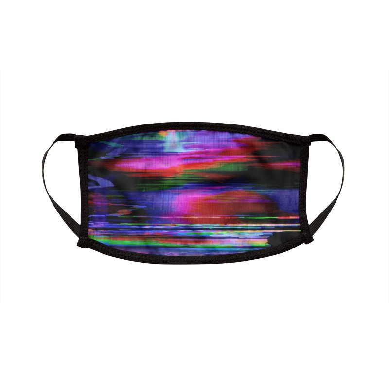 VHS Glitch 003: Phosphor Curves Accessories Face Mask by Glitch Goods by Rob Sheridan